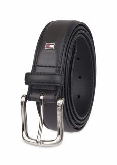 Tommy Hilfiger Men's Casual Belt Black logo