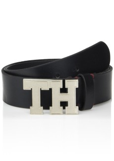 Tommy Hilfiger Men's Casual Belt black plaque