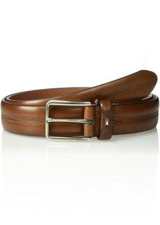 Tommy Hilfiger Men's Casual Belt brown stitch