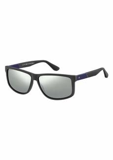 Tommy Hilfiger Men's Casual Rectangular Sunglasses