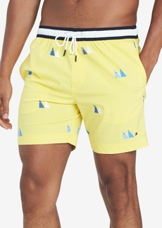 "Tommy Hilfiger Men's Celtic Sail-Print 6.5"" Swim Trunks, Created for Macy's"