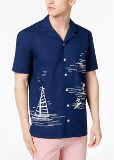 Tommy Hilfiger Men's Chain-Stitched Sailboat Shirt, Created for Macy's