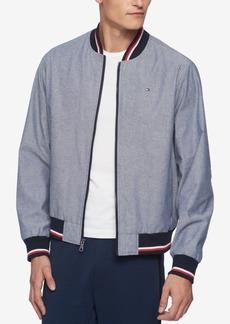 Tommy Hilfiger Men's Chambray Full-Zip Varsity Bomber Jacket