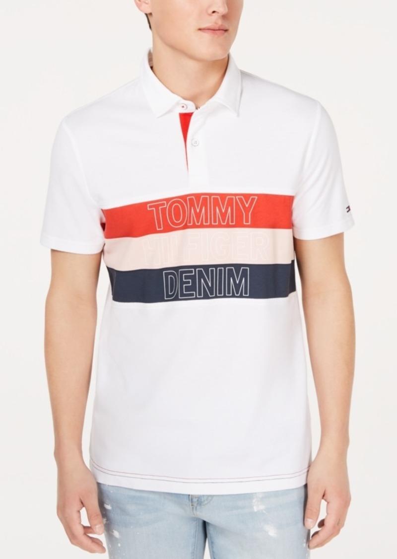 Tommy Hilfiger Men's Chest Stripe Logo Polo