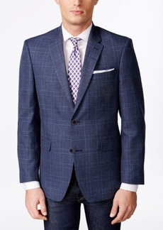 Tommy Hilfiger Men's Classic-Fit Blue Plaid Sport Coat