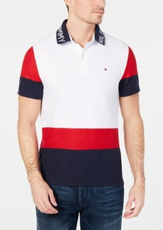 Tommy Hilfiger Men's Big and Tall Bryant Colorblocked Polo