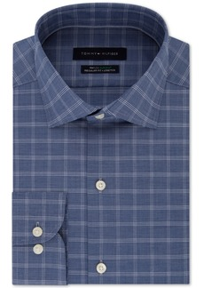 Tommy Hilfiger Men's Classic-Fit Flex Supima Check Dress Shirt