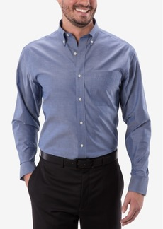 Tommy Hilfiger Men's Classic-Fit Indigo Twill Dress Shirt