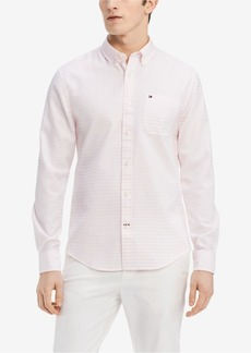 Tommy Hilfiger Men's Classic Fit Karl Striped Shirt, Created for Macy's