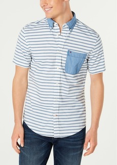 Tommy Hilfiger Men's Classic Fit Oliver Stripe Pocket Shirt, Created for Macy's
