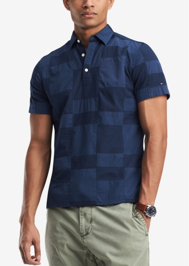e9f23ea8469 Tommy Hilfiger Tommy Hilfiger Men s Classic Fit Patchwork Polo ...