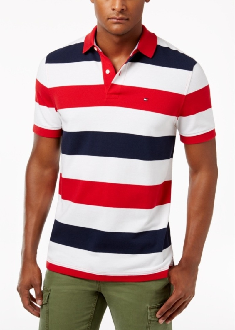 5a55481d Tommy Hilfiger Tommy Hilfiger Men's Classic-Fit Striped Cotton Polo ...