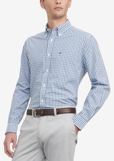 Tommy Hilfiger Men's Classic-Fit Th Flex Stretch Poplin Lenox Check Shirt