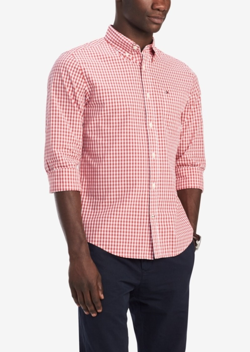 Tommy Hilfiger Men's Classic-Fit Twain Gingham Shirt, Created for Macy's