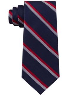 Tommy Hilfiger Men's Classic Red Stripe Silk Ties