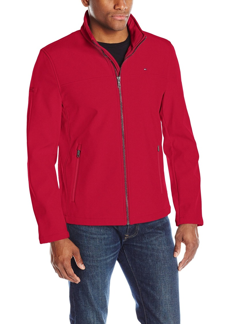 Tommy Hilfiger Men's Classic Soft Shell Jacket (Regular & Big-Tall Sizes) tommy red