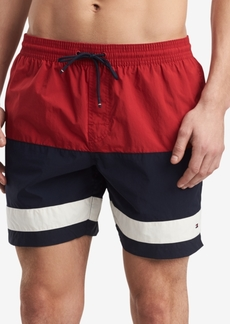 """Tommy Hilfiger Men's Colebrook Colorblocked 6.5"""" Swim Trunks, Created for Macy's"""