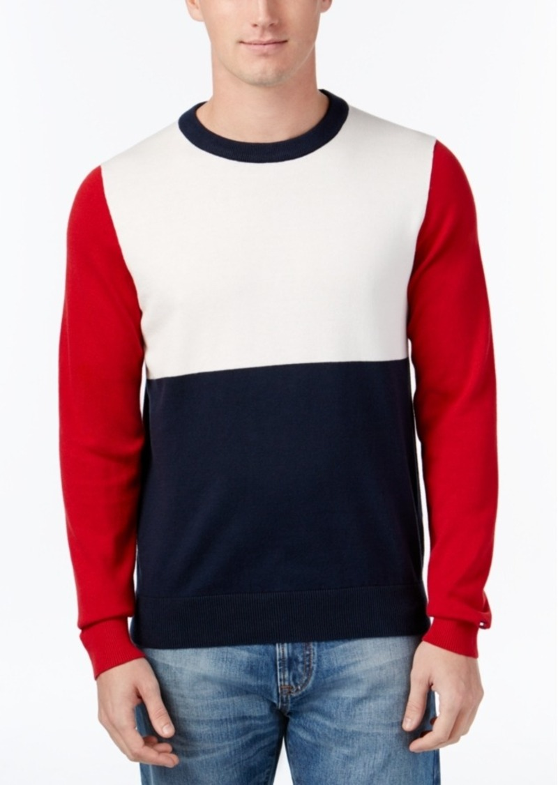 Tommy Hilfiger Men's Colorblocked Crew-Neck Sweater