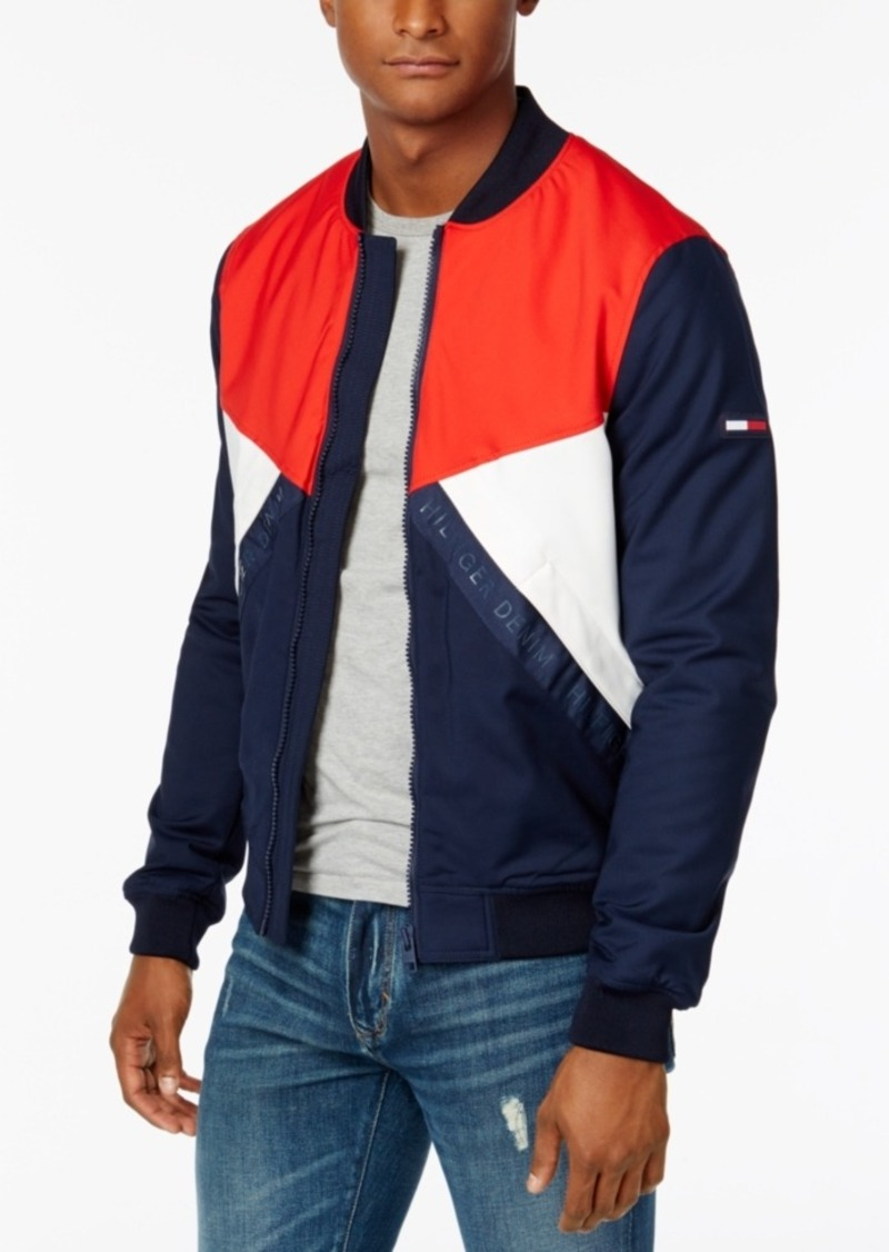 7807320af Men's Colorblocked Logo Bomber Jacket