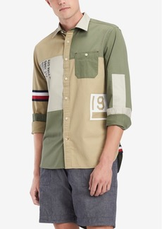 Tommy Hilfiger Men's Colorblocked Logo Graphic Shirt, Created for Macy's