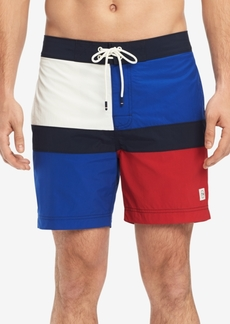 "Tommy Hilfiger Men's Colorblocked Mason 6.5"" Board Shorts, Created for Macy's"