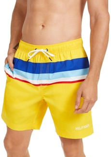Tommy Hilfiger Men's Colorblocked Oscar Swim Trunks, Created For Macy's