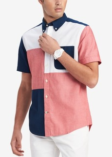 Tommy Hilfiger Men's Colorblocked Shirt, Created for Macy's