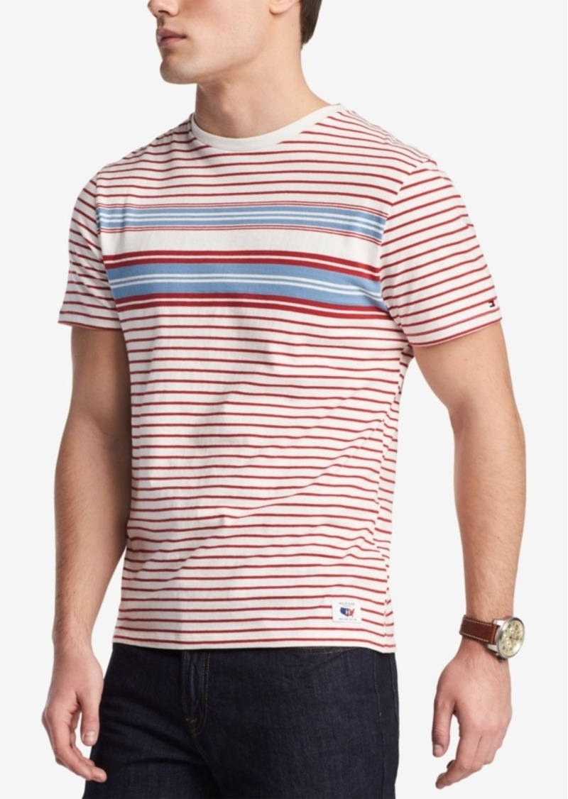 8689c6e9 Tommy Hilfiger Men's Colorblocked Stripe T-Shirt, Created for Macy's