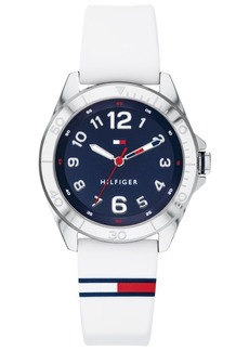 Tommy Hilfiger Men's White Silicone Strap Watch 34mm Created for Macy's