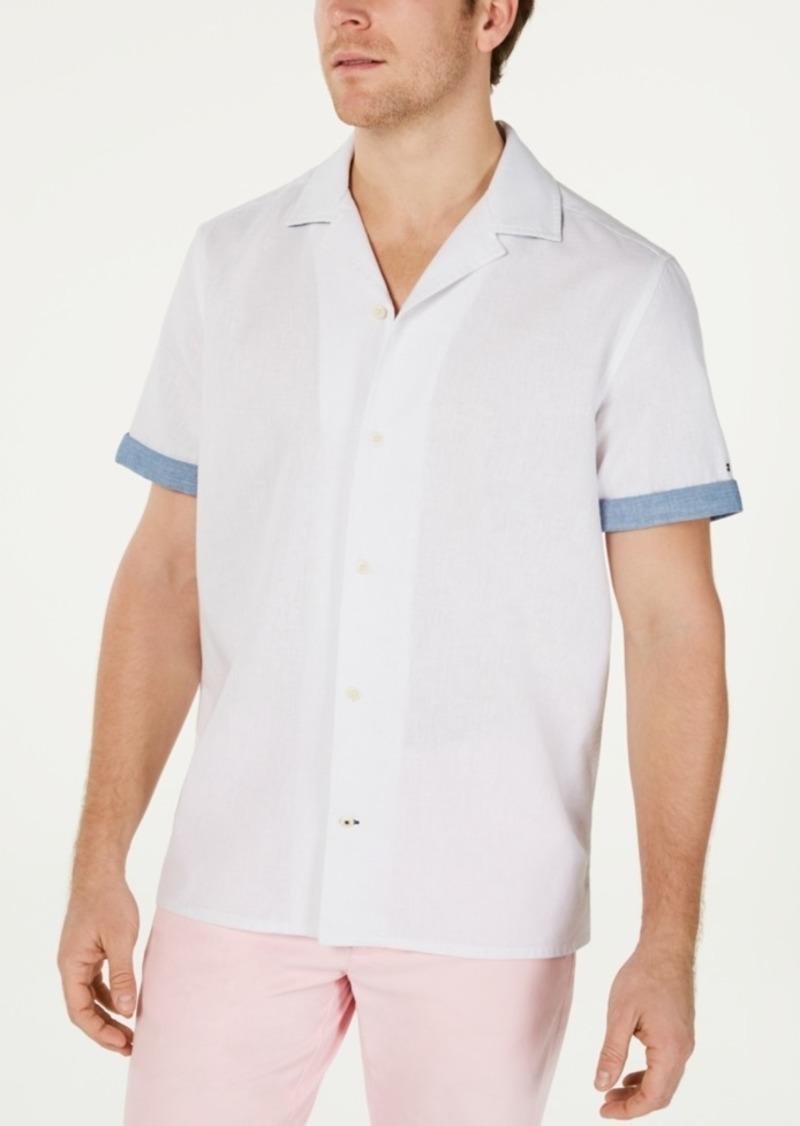 Tommy Hilfiger Men's Cooper Custom-Fit Linen Camp Shirt