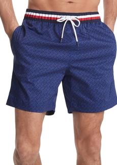 Tommy Hilfiger Men's Corey Geo Swim Trunks, Created For Macy's
