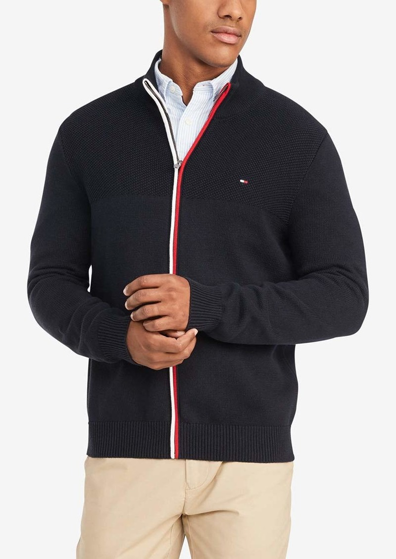 Tommy Hilfiger Men's Cotton Full Zip Sweater  2X-Large