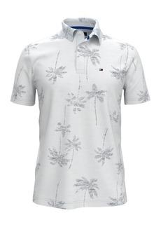 Tommy Hilfiger Men's Custom-Fit Caleb Palm-Print Polo