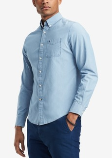 Tommy Hilfiger Men's Custom-Fit Chambray Button-Down Shirt, Created for Macy's