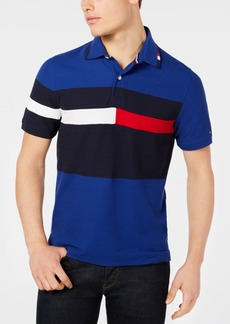 Tommy Hilfiger Men's Custom Fit Colorblocked Polo, Created for Macy's
