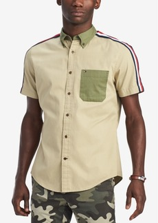 Tommy Hilfiger Men's Custom-Fit Colorblocked Shirt, Created for Macy's