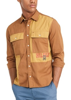 Tommy Hilfiger Men's Custom-Fit Dax Military Shirt, Created for Macy's