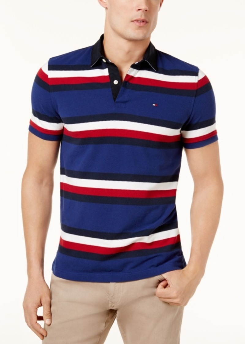 Tommy Hilfiger Tommy Hilfiger Mens Custom Fit Gilmore Striped Polo