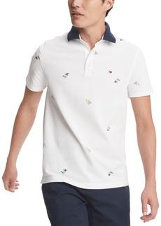 Tommy Hilfiger Men's Custom-Fit Joel Nautical Flag Polo Shirt