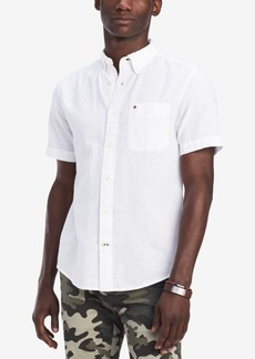 Tommy Hilfiger Men's Custom Fit Linen Blend Porter Shirt, Created for Macy's