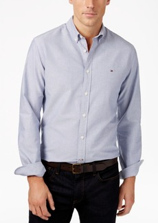 Tommy Hilfiger Men's Custom Fit New England Solid Oxford Shirt