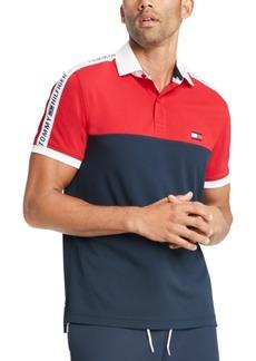 Tommy Hilfiger Men's Custom-Fit Nilsson Logo Colorblock Polo Shirt