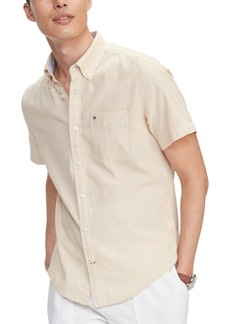 Tommy Hilfiger Men's Custom-Fit Peter Solid Shirt