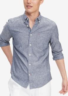 Tommy Hilfiger Men's Custom-Fit Prescott Textured Shirt