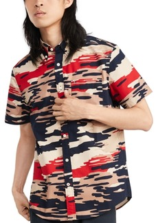 Tommy Hilfiger Men's Custom-Fit Roman Camouflage Short Sleeve Shirt, Created for Macy's