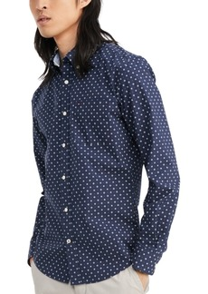 Tommy Hilfiger Men's Custom-Fit Stretch Aaron Print Shirt, Created for Macy's