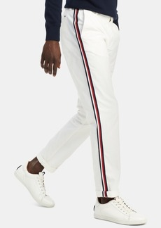 Tommy Hilfiger Men's Custom-Fit Stretch Signature Stripe Chinos, Created for Macy's