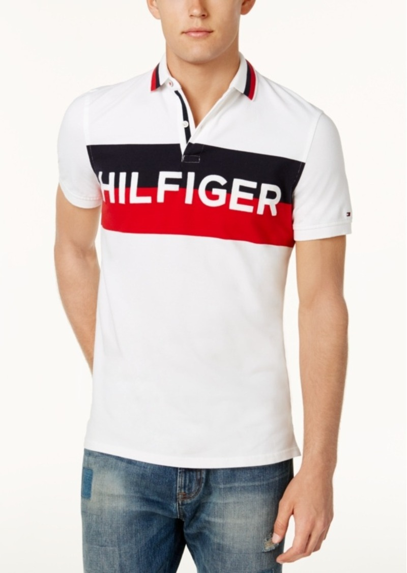 137ecc51 Tommy Hilfiger Tommy Hilfiger Men's Custom-Fit Stripe Logo Stretch ...