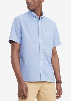 Tommy Hilfiger Men's Custom-Fit Th Flex Stretch Ike Geo-Print Shirt