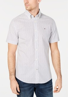 Tommy Hilfiger Men's Custom-Fit Triangle Print Shirt, Created for Macy's